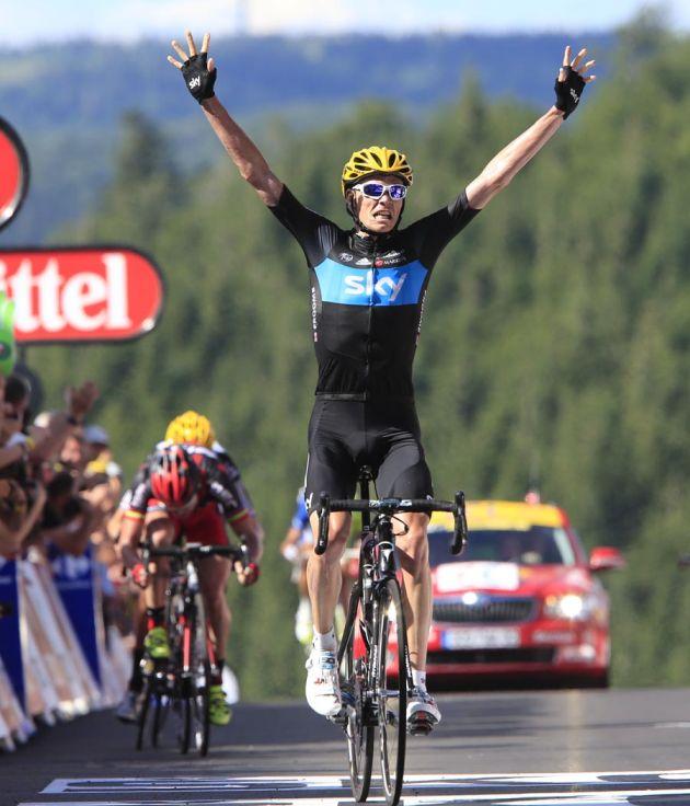 Chris Froome wins, Tour de France 2012, stage seven