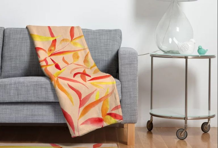 Fall throw blanket: Wayfair Autumn Leaves Throw Blanket