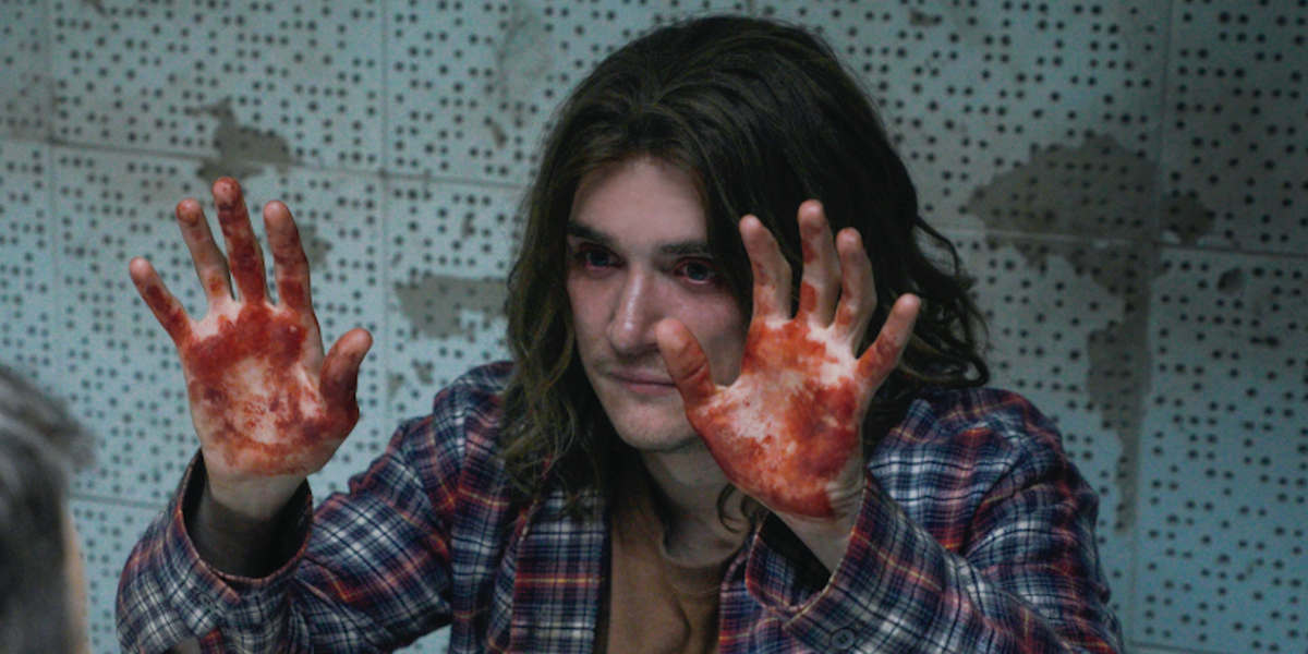 cbs all access interrogation eric fisher bloody hands