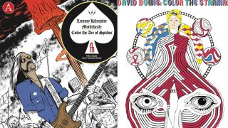 An image of the front covers of the Lemmy and David Bowie colouring books