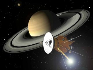 Cassini spacecraft at Saturn Artist Concept