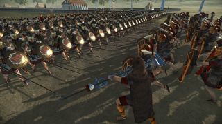 A Roman infantry charge