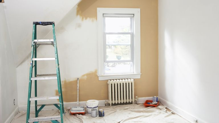 painting a room