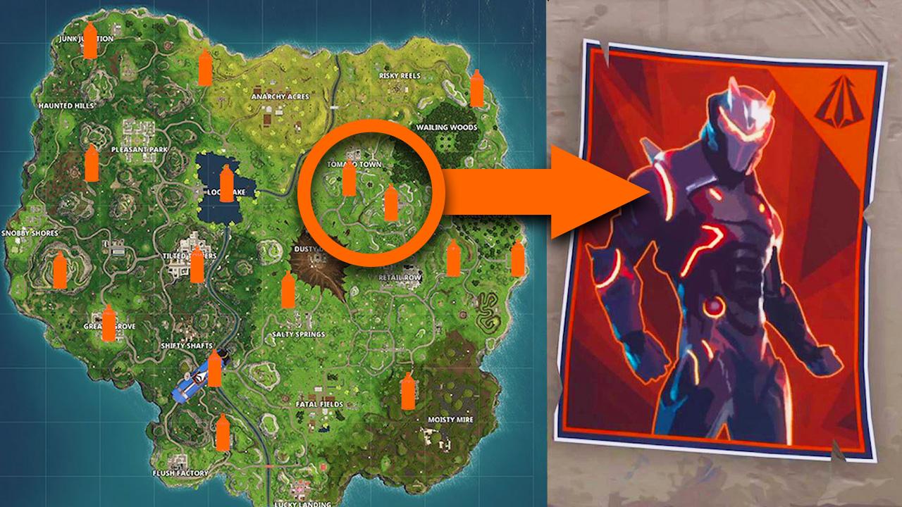 Fortnite Carbide And Omega Poster Locations Guide Gamesradar