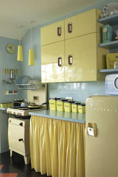 How To Create A Retro Style Kitchen Real Homes