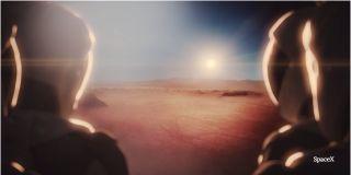 Astronaut on mars art