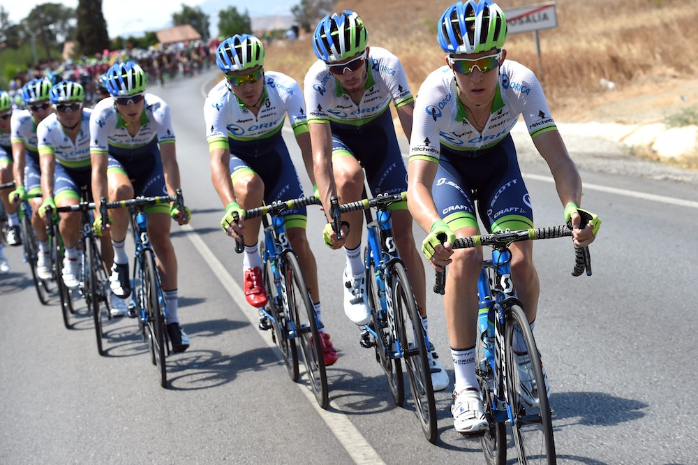Thumbnail Credit (cyclingweekly.co.uk): Orica-Green Edge chase on stage three of the 2015 Vuelta a Espa�a (Watson)