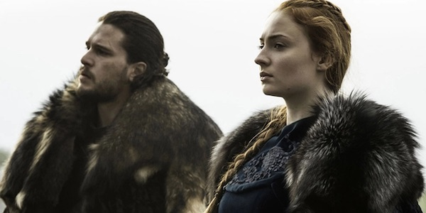 Sansa and Jon before the Battle for Winterfell