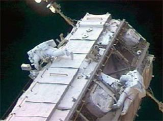 Spot On Spacewalk: Astronauts Ready ISS for Construction, Install Vital Sensor