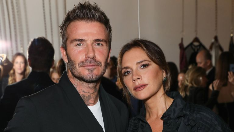 LONDON, ENGLAND - SEPTEMBER 30: David and Victoria Beckham attend Victoria Beckham and Sotheby's celebration of Andy Warhol with Don Julio 1942 at her Dover Street store, on September 30, 2019 in London, England. (Photo by Darren Gerrish/WireImage for White Company)