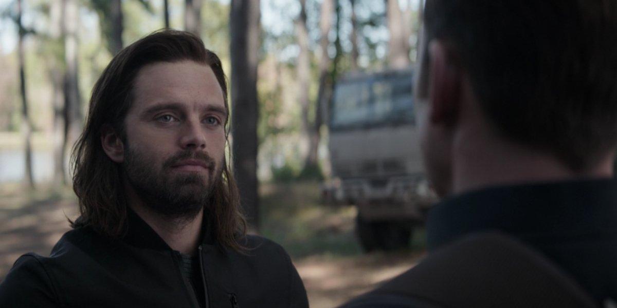 Sebastian Stan and Chris Evans in Avengers: Endgame