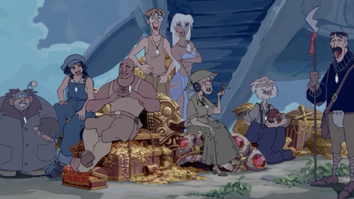 The cast of Atlantis: The Lost Empire.