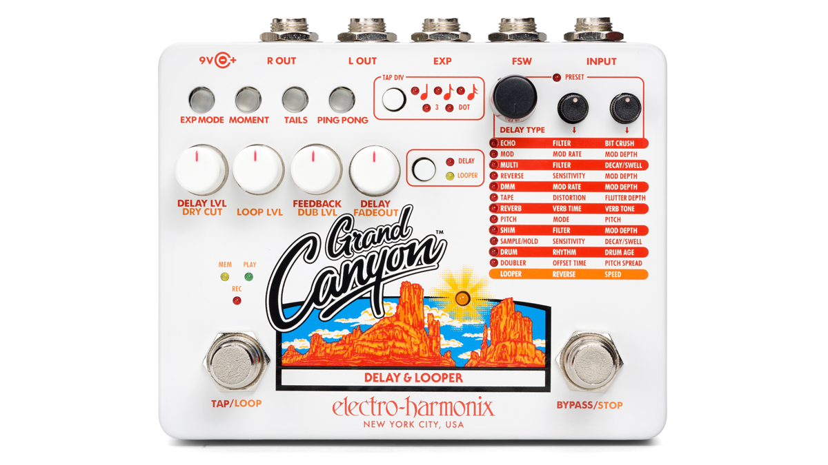Electro-Harmonix unveils all-encompassing Grand Canyon delay and looper