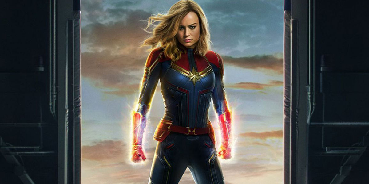 captain marvel with long hair in 2019 movie Phase Three