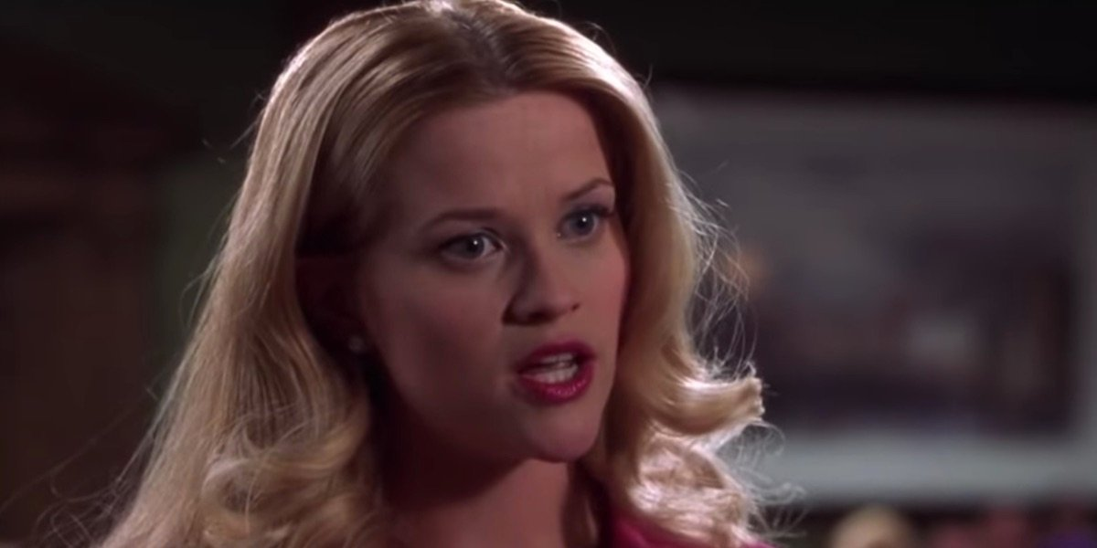 Elle Woods in Legally Blonde's courtroom scene