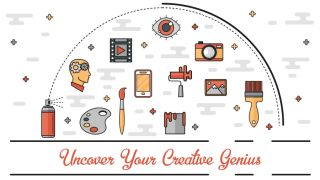 Unlock your creative genius infographic header