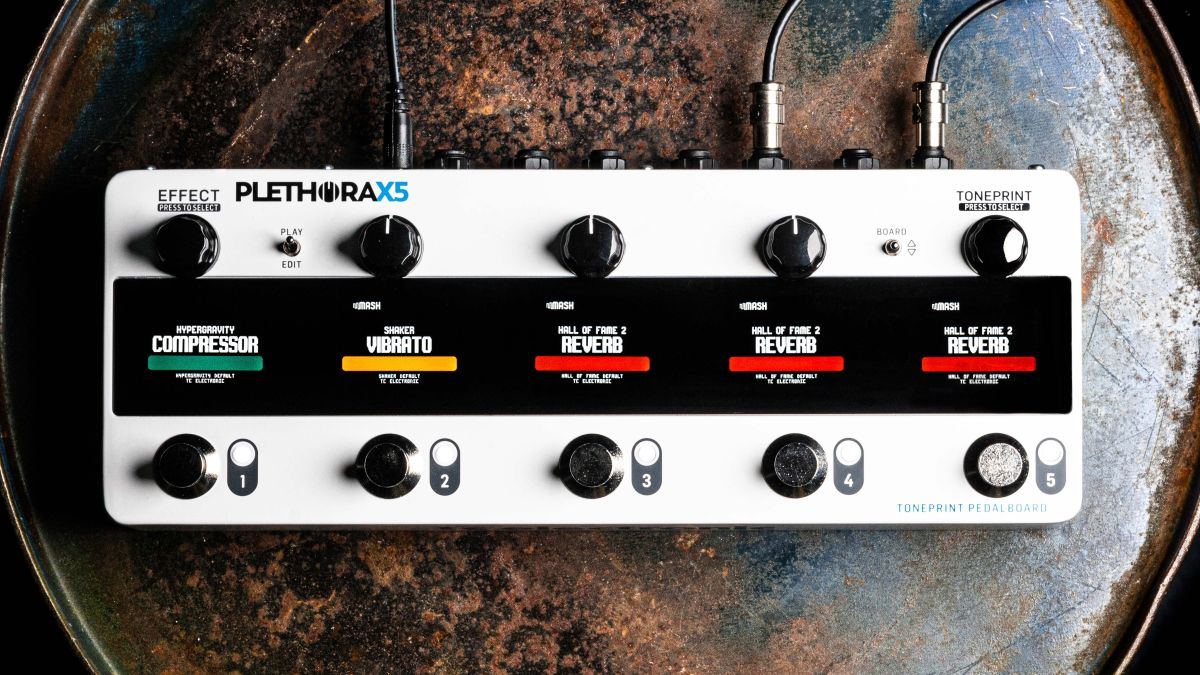 TC Electronic's new Plethora X5 will give you 127 pedalboards in one