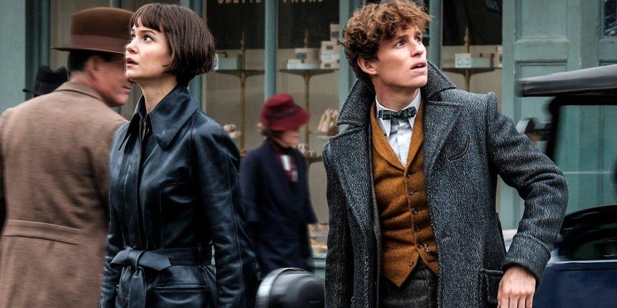 Eddie Redmayne and Katherine Waterston in Fantastic Beasts 2: The Crimes of Grindlewald