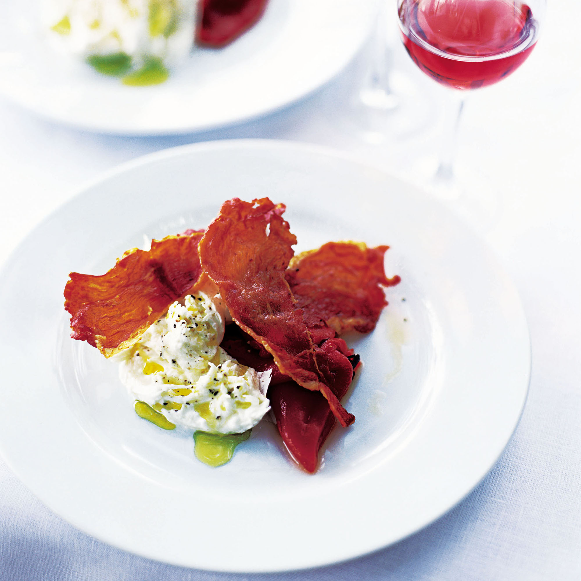 Buffalo Mozzarella With Crispy Serrano Ham And Roasted Peppers Lunch Recipes Woman Home