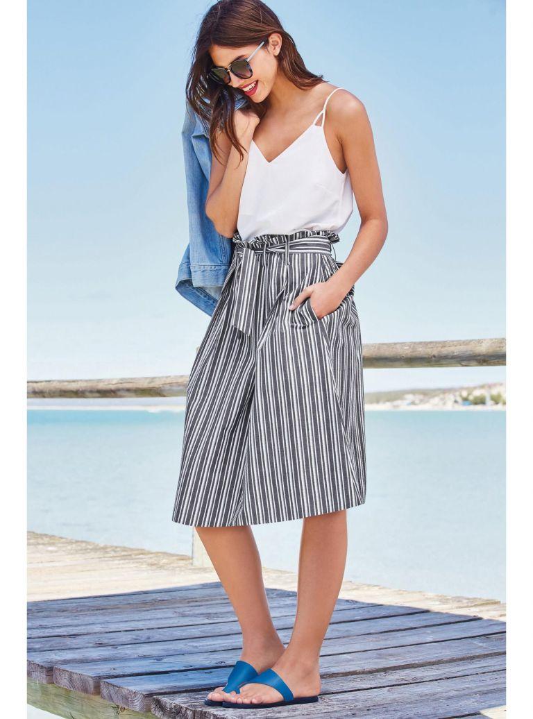 Stripe skirt, £38, Next