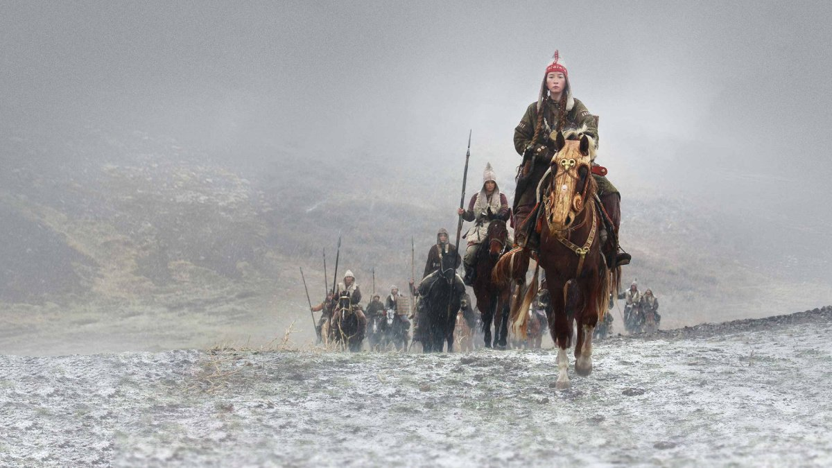 A group of warrior women on their way to battle in Epic Warrior Women.