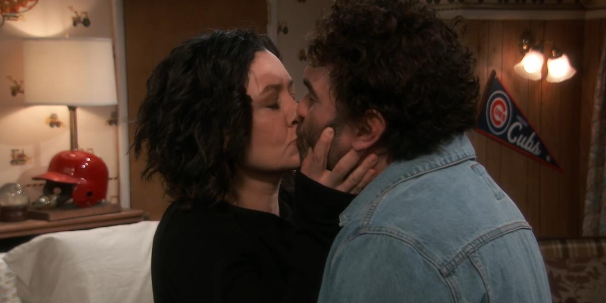 the conners darlene kisses david season 2 abc