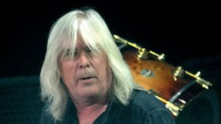 A photograph of AC/DC bass player Cliff Williams who says he will retire soon