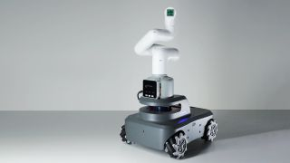 The myAVG with its robot arm attachment