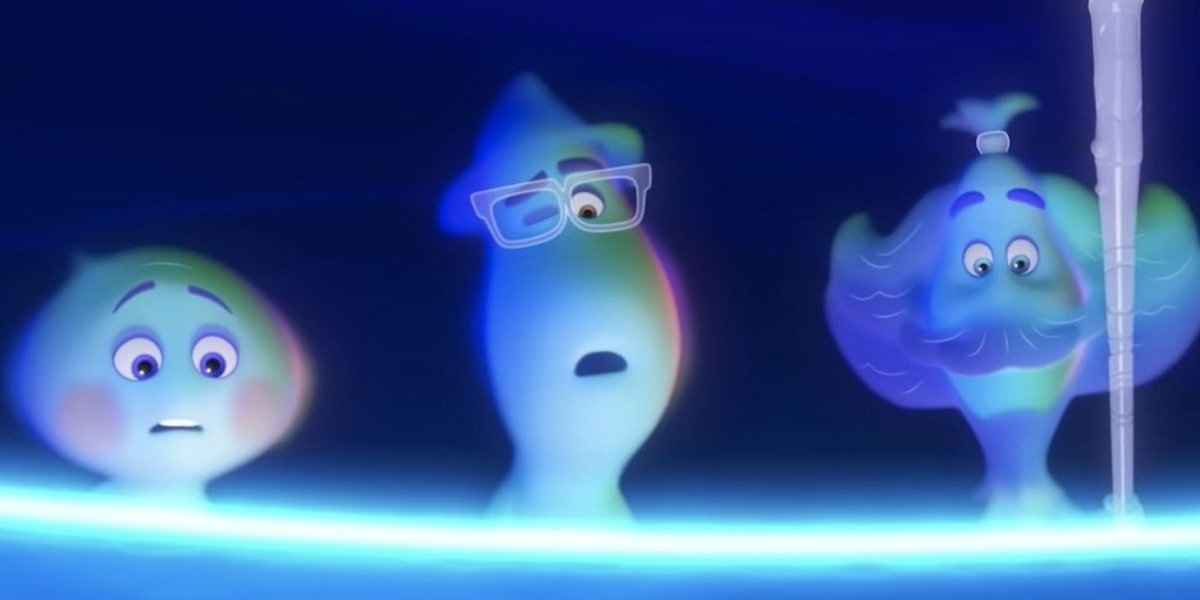 Pixar Soul characters looking into a pit
