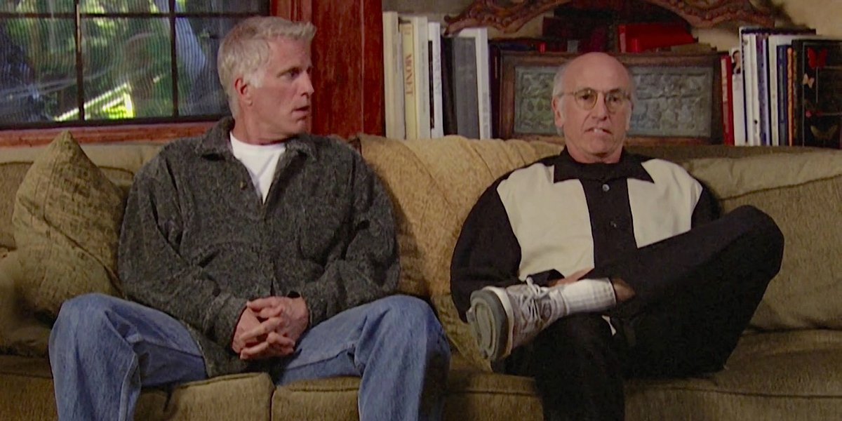 Ted Danson and Larry David on Curb Your Enthusiasm