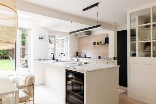 a new kitchen design in a light bright space