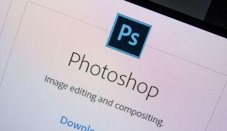 Download Photoshop - Photoshop's logo on a monitor