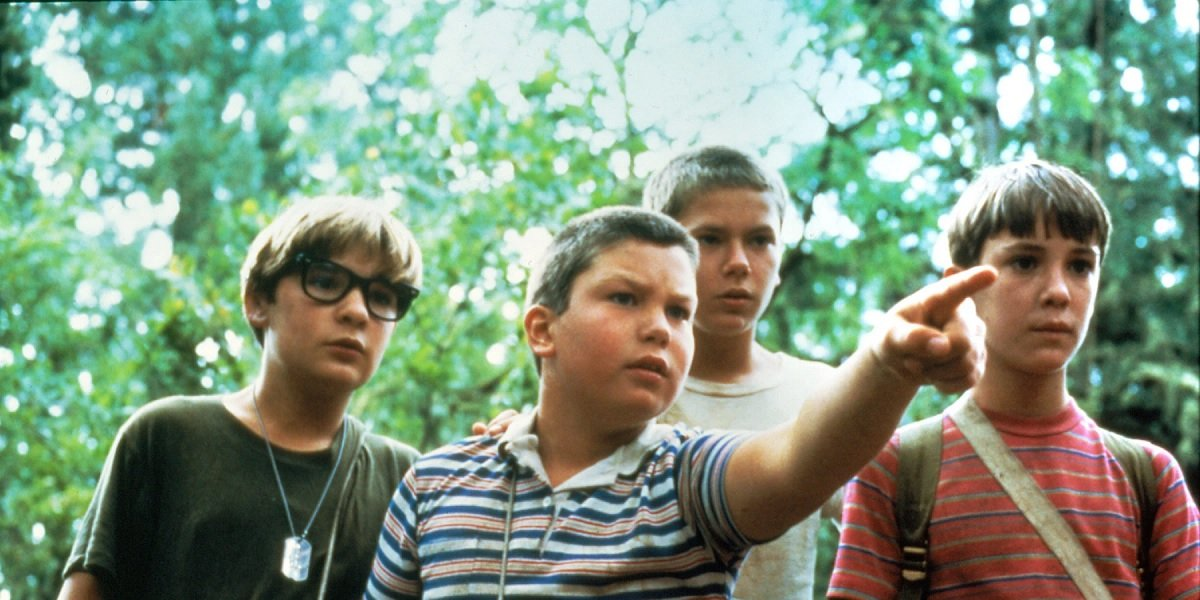 Will Wheaton, Corey Feldman, Jerry O'Connell, and River Phoenix in Stand By Me