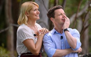 Holly and Dec watch a challenge on last night's I'm A Celeb