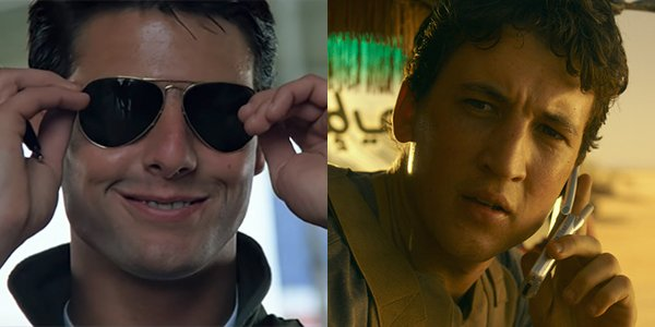 Tom Cruise and Miles Teller