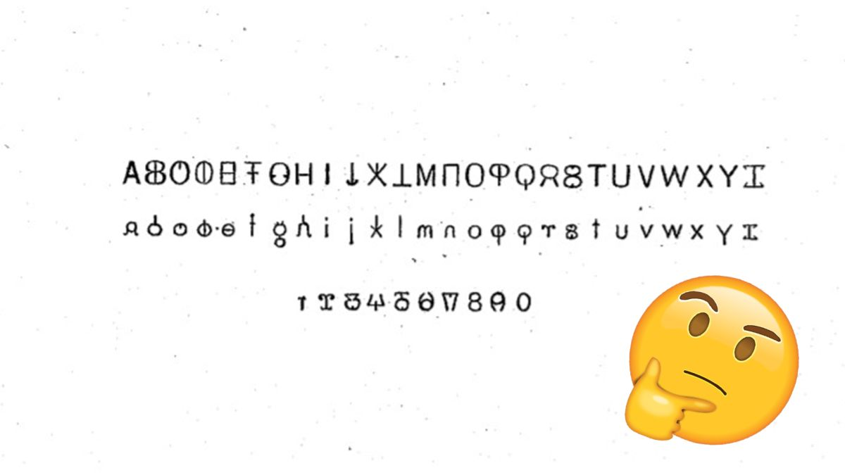 Unbelievable 100-year-old font can be read both backwards and forwards