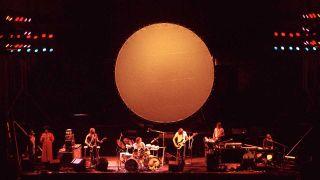 Pink Floyd onstage circa 1972