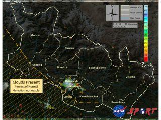 Nepal Light Emissions Decrease After Earthquake