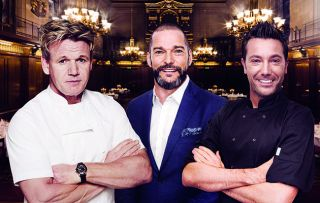 Gordon Ramsay and Gino D'Acampo create Christmas dinners for 100 deserving diners in a battle to be named Banquet Champion.