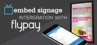embed signage Integrates Flypay Mobile App