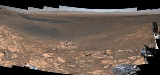 A portion of a 1.8-billion-pixel panorama whose composite images were captured by NASA's Curiosity Mars rover between Nov. 24 and Dec. 1, 2019.