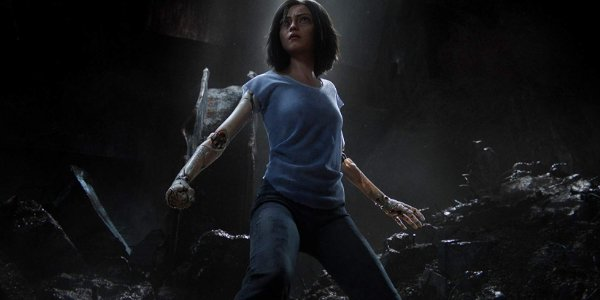 Alita: Battle Angel Alita stands ready to fight in the underground ruins of Iron City