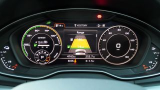 The virtual cockpit shows you how many electric and petrol miles you have left