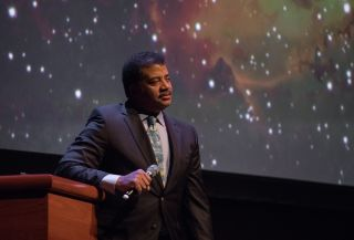 Astrophysicist Neil deGrasse Tyson speaks onstage at the Long Center on February 6, 2018 in Austin, Texas.