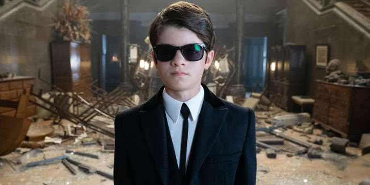 Artemis Fowl in destroyed Fowl Manor on Disney+