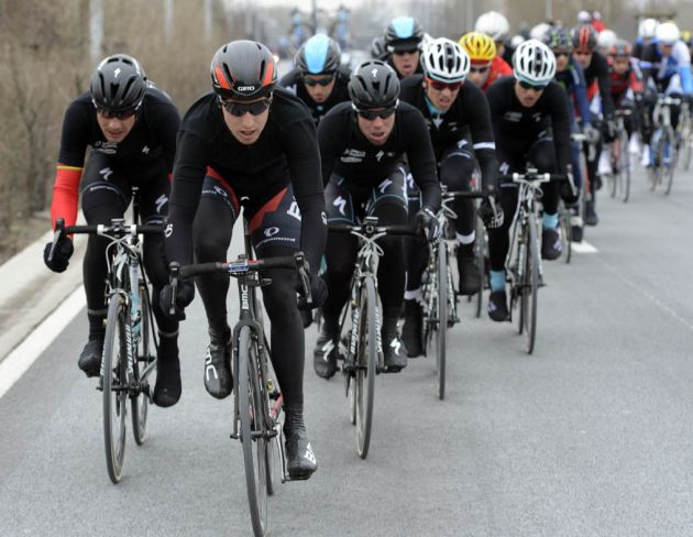 Taylor Phinney leads escape, Ghent-Wevelgem 2013