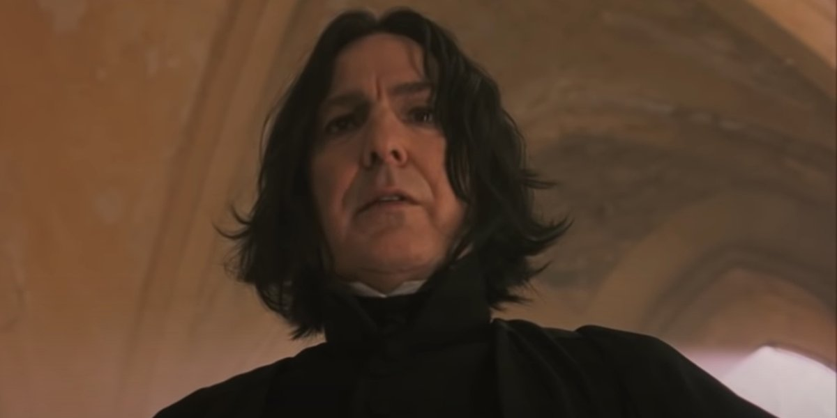 Alan Rickman in Harry Potter And The Sorcerer's Stone