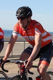 Sprinter Eric Young enjoys the training ride along the coast.