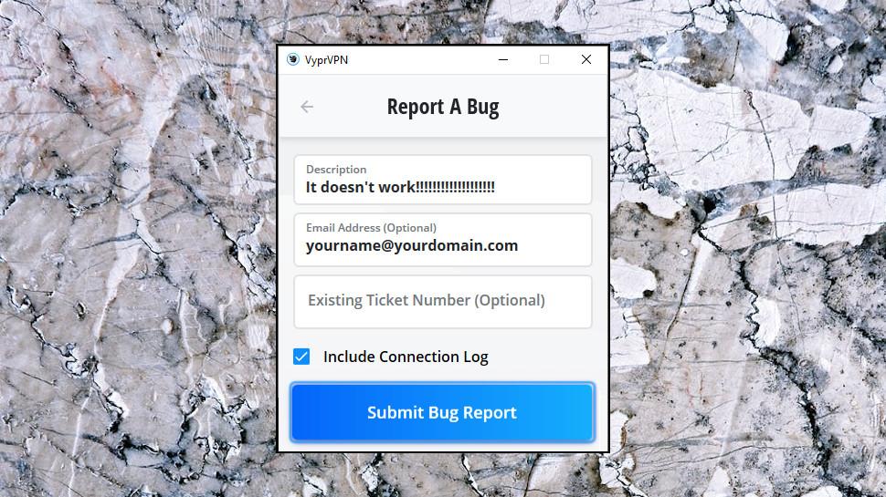 VyprVPN Report Bugs
