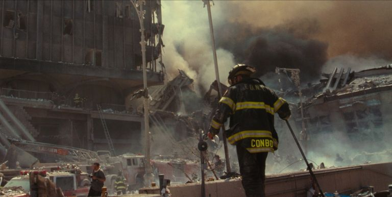 Turning Point: 9/11 and the War on Terror- A first responder digs through the remains of the fallen WTC towers from the episode